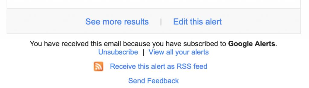 Google Alert Email