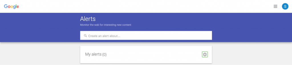 Google Alerts platform