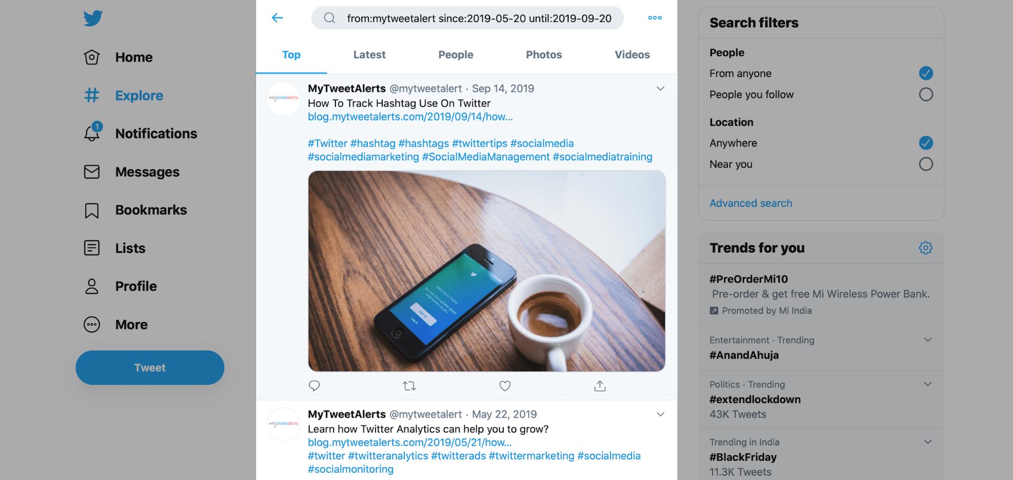 How To See Old Tweets   MyTweetAlerts.com Blog