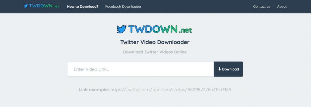 Twitter video downloader website