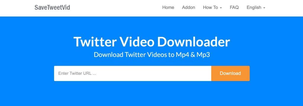 SaveTweetVid twitter video downloader